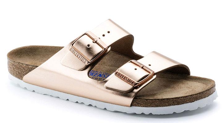 Birkenstock Arizona Soft Footbed Leather Metallic Copper UK 5 EUR 38 (952091)