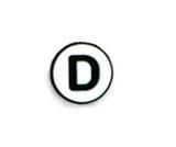 Jibbitz Alphabet Letters - D