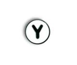 Jibbitz Alphabet Letters - Y